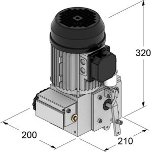 motore portoni impacco laterale