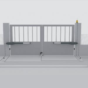 automazione cancello 2 battenti