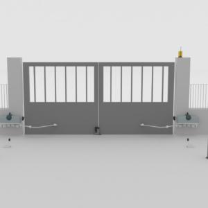 automazione cancello battenti interrato