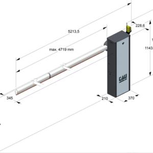 barriera automatica aste fino a 5 m