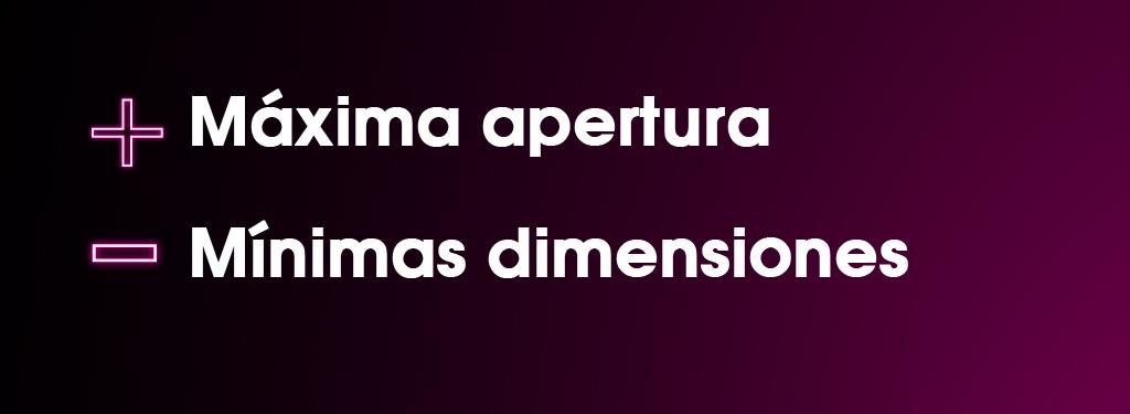 Màxima apertura - Mìinimas dimensiones. Puerta automática telescópica