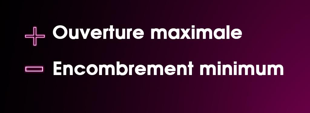 Ouverture maximale - encombrement minimum. Porte automatique télescopique