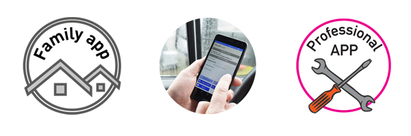 Banner loghi Family App (TauOpen) e Professional app (TauApp)